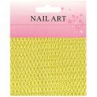 Körömdíszítő háló - sárga