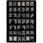 Sablon gravírozott motívumokkal körömnyomdázásra - 021, XL
