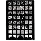 XL Minta paletta A5 formátumban nyomdás körömdíszítésre, 019