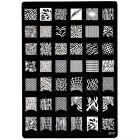 XL Fémlemez nyomdázós körömdíszítésre, 017