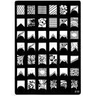 Gravírozott mintázatú sablon körömnyomdázásra - 016, XL
