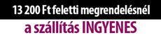 ingyenes szállítás 33,- € feletti megrendelés esetében